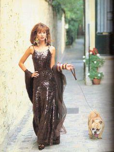 'C'est Paris' from..Vogue Italia September 1992 feat Christy Turlington  Nadege du Bospertus *Full credit goes to lylascans