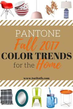 This color palette is inspired by the Pantone Fall 2017 Color Trends. Try these colors to freshen up your home this fall. Click to see them all and find color inspiration!