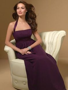 Alfred Angelo 7016 Chiffon Halter empire waist bridesmaid dress