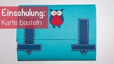 Karte zum Schulanfang: Ein Schulranzen mit Eule.  #DIY #Basteln #Schule #Einschulung #Schuleinführung #Schulanfang #School #Eule #Owl