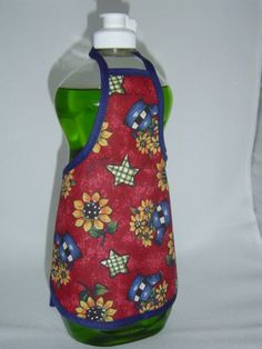 apron bottle covers   Watercan Sunflower Dish Soap Bottle Apron Cover by beeluckylady
