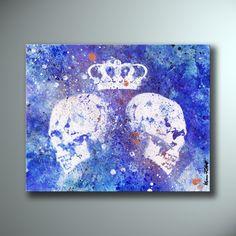 Queendom • SHOP: KissmyartArtcore.etsy.com • #art #drawing #painting #illustration #nude #red #blue #white #etsy #facebook #etsyshop #punk #skull #crown #paper #graffiti #modernart #artforsale #kissmyart #acrylic #spraypaint #abstract #surreal
