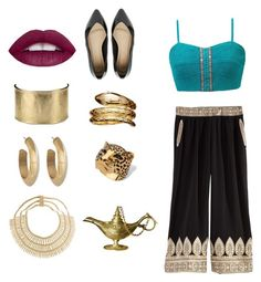 """""""Aladdin Jasmine"""" by tama-tiffany ❤ liked on Polyvore featuring Gimmicks, Calypso St. Barth, House of Harlow 1960, Blue Nile, Temple St. Clair, Palm Beach Jewelry, Rosantica, ASOS, women's clothing and women"""