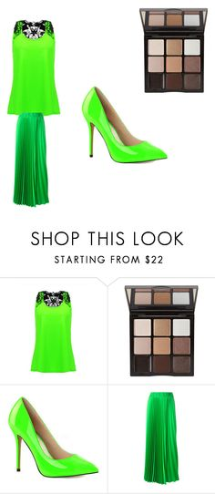"""victoious"" by hailey-chambliss ❤ liked on Polyvore featuring Trish McEvoy, Pleaser and P.A.R.O.S.H."