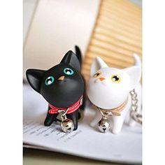 TOOGOO(R) 1 x porte-cles super mignon Design de chaton noir Ideal comme un ornement de sac ou un cadeau: Amazon.fr: Jeux et Jouets