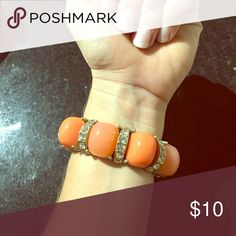 Loft Bracelet Loft Coral bracelet- great condition no missing stones! LOFT Jewelry Bracelets