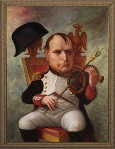 Napoleon - Napoleon, Oil on canvas. - Illustration by Roman Genn