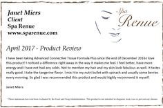 Collagen M.D.® Product Review:  Thank-you Janet for your Advanced Connective Tissue Formula Plus product review www.sparenue.com #SupplementReviews #CollagenMD #ProfessionalSkinCare #ProfessionalSupplements #HealthySkin