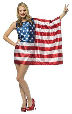 Patriotic USA Flag Dress Adult Costume Patriotic Costumes - Mr. Costumes