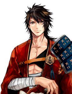 Anime Kimono, Manga Anime, Anime Art, Hot Anime Boy, Anime Love, Touken Ranbu, Mutsunokami Yoshiyuki, Sengoku Basara, Fantasy Art Men