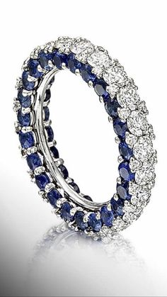 Gem Stone King 925 Sterling Silver Blue Sapphire and White Diamond Women's Ring Ct Oval) (Size – Fine Jewelry & Collectibles Gems Jewelry, Diamond Jewelry, Jewelry Box, Vintage Jewelry, Jewelry Accessories, Fine Jewelry, Jewelry Design, Silver Jewellery, Beautiful Rings