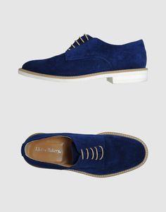 John Bakery blue suede oxfords