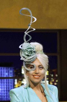 Royal Ascot week. Hat by Philip Treacy Worn by the Lady GaGa #millinery #judithm #hats