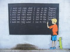 Graffiti Art by Bansky.