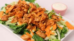 Buffalo Chicken Salad Recipe - Laura Vitale - Laura in the Kitchen Episo...