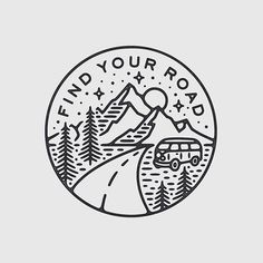 Ideas For Travel Drawing Doodles Travel Drawing, Camping Drawing, Tattoo Inspiration, Hand Lettering, Tatoos, Art Drawings, Artsy, Embroidery, Words