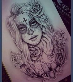 20 wunderschöne Sugar Skull Tattoo-Ideen - Stay at Hom . - 20 Gorgeous Sugar Skull Tattoo Ideas – Stay at Home Mum Tag des toten Tattoo-Designs - Bild Tattoos, Neue Tattoos, Body Art Tattoos, Tatoos, Rosary Tattoos, Bracelet Tattoos, Heart Tattoos, La Muerte Tattoo, Catrina Tattoo