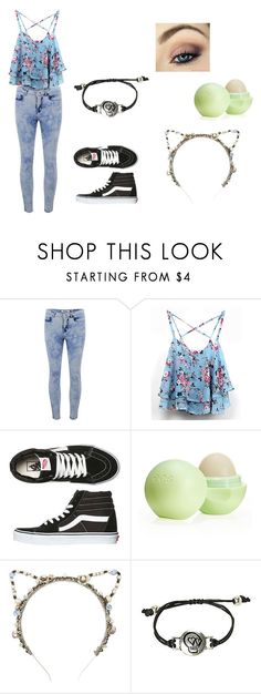 """""""Outfit #62"""" by bluejohnson ❤ liked on Polyvore featuring ONLY, Vans, Eos and Eugenia Kim"""
