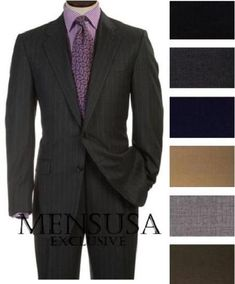 01e59d12b1 2 Buttons Style Super Worsted Virgin Wool Business Suits Comes in 25 colors