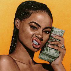 Image about love in Cute Illustrations. Dope Cartoon Art, Black Girl Cartoon, Black Girl Art, Black Women Art, Black Girl Magic, Pop Art Girl, Arte Black, Trill Art, Black Art Pictures