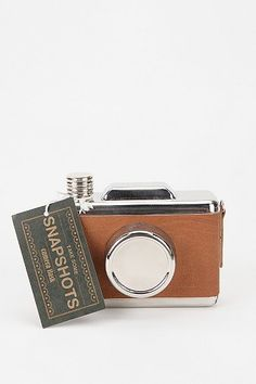 Urban Outfitters Snapshots Camera Flask - I need this!