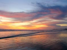Stunning sunset in Playa Guiones in Nosara, Costa Rica. #travel