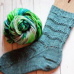 Steel Blue sock & Awakening Earth - from Yarn Love My Favorite Color, My Favorite Things, Blue Socks, Sock Knitting, Color Pairing, Hand Dyed Yarn, Awakening, Vibrant Colors, Earth