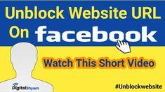 How to Unlock Website From Facebook | Website Ko Facebook Par Unblock Ka... Facebook Website, Learning, Digital, Youtube, Studying, Teaching, Youtubers, Youtube Movies, Onderwijs