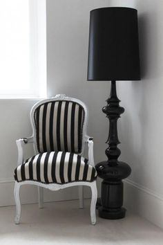 "Black Contemporary Floor Lamp ""Chloe"" somehting mad like this would add a bit of drama!"
