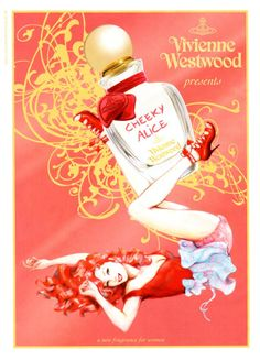 """""""PIN-UPPISH"""" VIVIENNE WESTWOOD FRAGRANCE AD FROM UK:    2012 Cheeky Alice    Illustration by Maly Siri"""