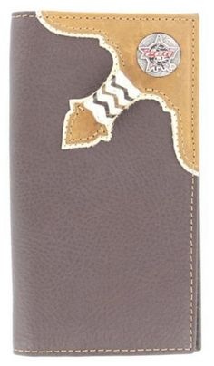 PBR Leather Overlay Western Wallet