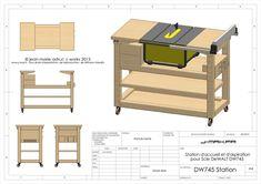 J'ai acquis en février 2013 une scie sur table DeWalt DW745 afin qu'elle prenne désormais en charge les coupes de l'atelier. La scie est de dimensions raisonnables, mais une station d'accueil offrirait une surface de travail supplémentaire, ainsi que des rangements pour les accessoires. J'ai donc pris un peu de …