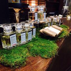 Fragrances on moss.
