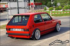 Mars Red VW Golf Mk1 GTI - a photo on Flickriver