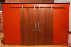CRT-102 SERIES CRT-102-SS Sliding Door Kit is used in a Schoolhouse converted loft in Hamilton, Ontario