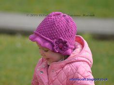 (6) Name: 'Knitting : Droplet Flower Hat