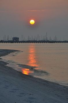 Shore of Gulfport, Mississippi.