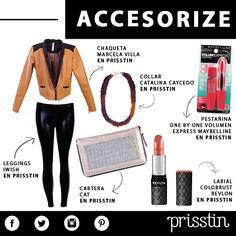 ACCESORIZE: Dale un toque classy a los leggings con un blazer en cuero y accesorios a tono. #Feel #Shop #Prisstin