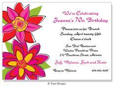 Events - Flora Invitation