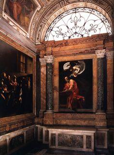 Caravaggio, The Calling of St Matthew, Contarelli Chapel, Church of San Luigi dei Francesi, Rome