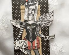 Paper Doll, Tag, Steampunk, Create Your Own Reality, Escape, Joy, Angel