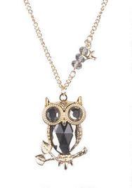 Acrylic Stone Owl Pendant