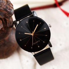 95c921d5f43 2016 Relogio Feminino Women Analog Quartz Dial Hour Digital Watch Leather  Wristwatch Reloj Mujer Round Case Time Clock Lady Gift - Immediate Market
