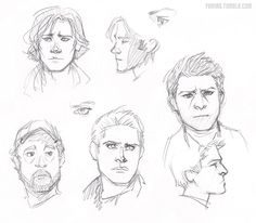supernatural by kreugan.deviantart.com on @deviantART . Character Sketch / Drawing .