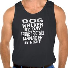 Dog Walker Fantasy Football Manager Tank Tank Tops