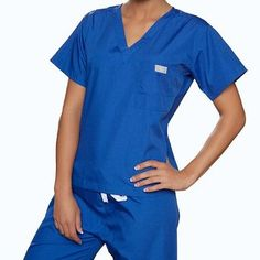388ead5078e Amazon.com: blue sky scrubs Royal Scrub Top XX-Small: Medical Scrubs  Shirts: Clothing