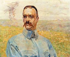 Portrait of Józef Piłsudski - Jacek Malczewski  1916