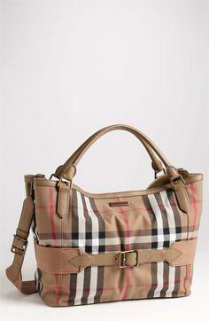 Burberry Kids Tote Diaper Bag (Tan) Tote Handbags xCREzAe