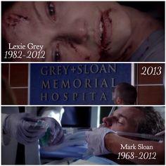 Every time I watch this episode, I blame Shonda Rimes for my mentally breakdown.. - Grey's Anatomy - Lexie Grey - Mark Sloan - Slexie - McSteamy
