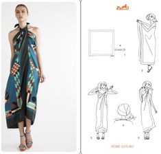 DIY scarf Dress dress An Ode to Scarves… Scarf Top, Scarf Dress, Diy Dress, Ways To Wear A Scarf, How To Wear Scarves, Diy Fashion, Ideias Fashion, Fashion Top, Fashion Corner